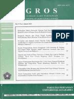 AGROS 15(1)_2013_Faktor Penentu Pilihan Produksi Tanaman Pangan