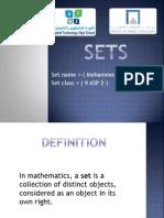 sets ppt math project