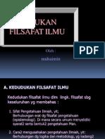Kedudukan Filsafat Ilmu.ppt 1.Ppt 1