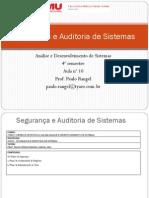 Aula 10- Segurança e Auditoria de Sistemas - PCN e Adm Crises
