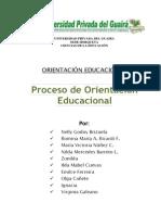 Proceso de La Orientación Educacional