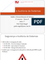 Aula 7 - Segurança e Auditoria de Sistemas - Seg No Ciclo de Vida Desenv Aplic - Turma B