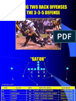 Defending Two Back Offenses