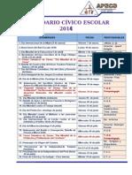 CALENDARIO CÍVICO 2014