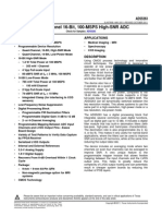 TI Adc 16Bit, Quad 100MSPs Ads5263