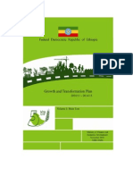 Ethiopia Growth and Transformation Plan 2010/11-2014/15 Volume I - Main Text    by Ministry of Finance and Economic Development  November 2010   Addis Ababa