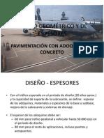 Diseño Geométrico y de Espesores Adoquines