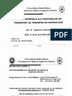ECUAŢII GENERALE ALE PROCESELOR DE TRANSPORT ŞI TRANSFER DE ROPRIETATE
