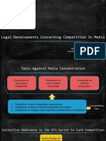 Legal Issues Concerning Competition in Media