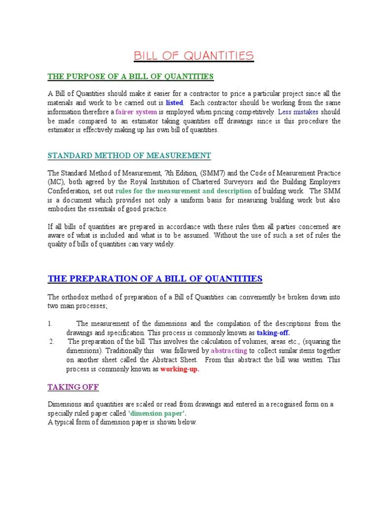 Boq procedure sjf 1995 hvac water heating falaconquin
