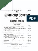Quarterly Journal of the Mythic Society Volume 14, 1923