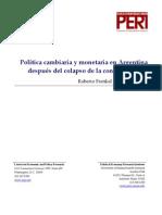 Política cambiaria y monetaria en Argentina después del colapso de la convertibilidad