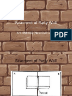 Easement of Party Wall