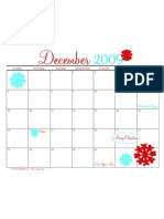 Printable December 2009 Calendar by The Tomkat Studio
