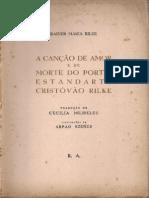 A Cancao de Amor e de Morte Do Porta Estandarte Cristovao Rilke