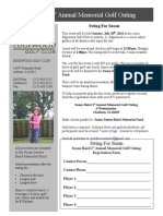 Player Registration Golf Outing 2014