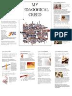 my pedagogical creed foldable ed 3