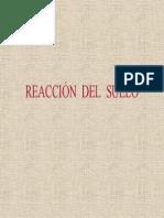 Reaccion Del Suelo
