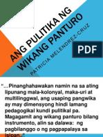 Ang Pulitika ng Wikang Panturo ni Patricia Melendrez-Cruz