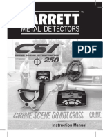 Garrett CSI 250 Manual