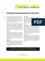 01 Indoor Cycling Fietsinstelling