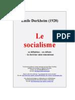Emile Durkheim Le Socialisme