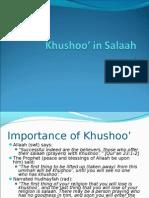 Khushoo' in Salaah