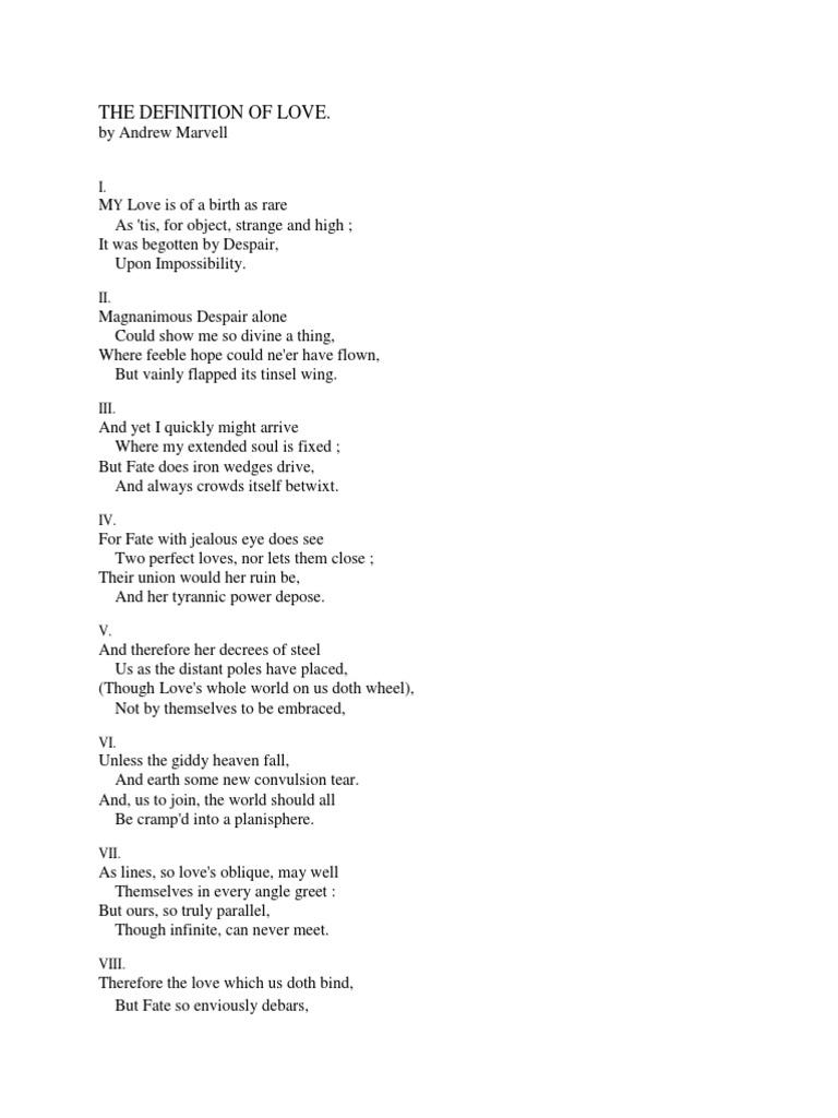 Andrew Marvell: Poems