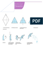 Origami Twirling Bird Print