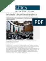 28-05-2014 Milenio.com - Comisiones de San Lázaro iniciarán discusión energética.