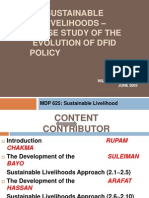 Sustainable Livelihoods – A Case Study of the Evolution of DFID Policy