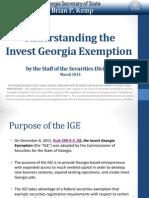 Understanding Invest Georgia Exemption