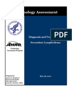 Diagnosis and Treatment of Secondary Lymphedema