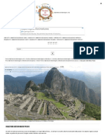 Dicas Para Visitar Machu Picchu _ Revista de Viagem
