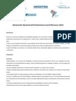 Declaracion Nacional 2013