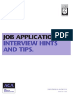 Job Application Interview Hints Tips