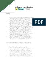 Goethe Römische Elegien Fama