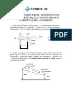 Lista de Exercicio II- Eq.da Continuidade e Bernoulli