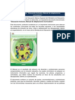 Manual de Adpataciones Curriculares