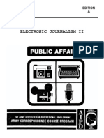US Army Journalist - Electronic Journalism II 1990