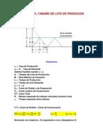 Modelo Del Tamaño de Lote de Producion