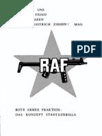 RAF - Das Konzept Stadtguerilla