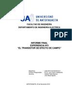 Informe Final N° 3 - El transistor de efecto de campo - Laboratorio de Electrónica I.docx