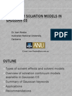 Continuum Solvation Models in Gaussian 03 (2)