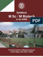 M Sc / M Biotech