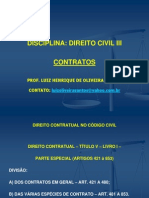 Direito Contratual - Aula 1ª e 4ª