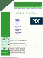 Clases de Calabazas