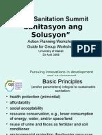 Luzon Sanitation Summit Workshop Guidelines
