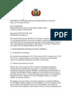 Prueba Preconstituida Sentencia Constitucional Plurinacional 1763