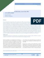 E-strategias en La Introducción y Uso de Las TIC en La Universidad